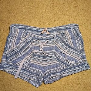 Rewind blue and white striped shorts